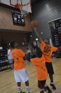 More than 25 youth participated in the Hoops in the Hood kickoff event on Saturday, July 12. (The Gate/Sonya Eldridge)